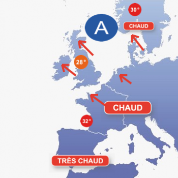 Vague de chaleur en Europe du Nord